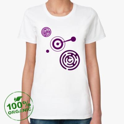 Женская футболка из органик-хлопка Круги уфо