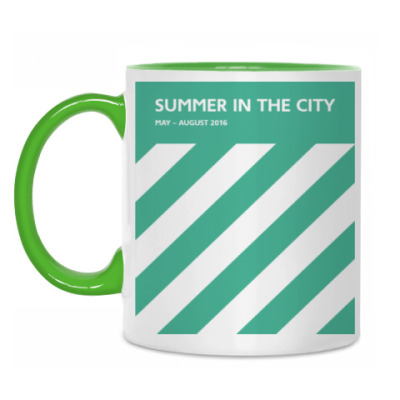 Кружка Кружка бело-зеленая Summer in the City