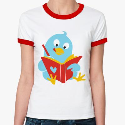 Женская футболка Ringer-T Твиттер