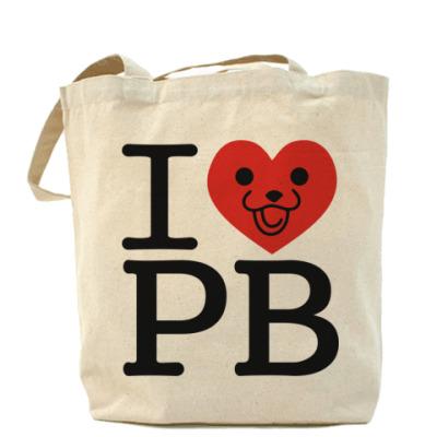 Сумка Холщовая сумка I love PB