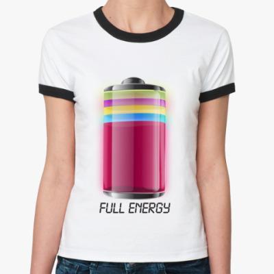 Женская футболка Ringer-T   'Energy'