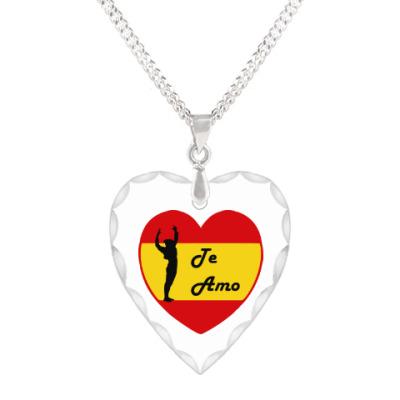 Кулон 'сердце' Я люблю тебя по-испански