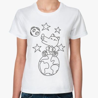 Классическая футболка  'Winter night'