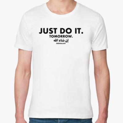 Футболка из органик-хлопка Just do it, арабская версия