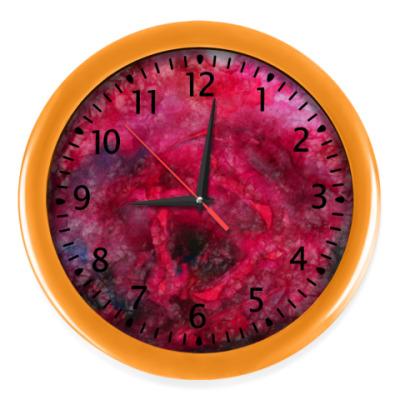 Настенные часы Алая роза