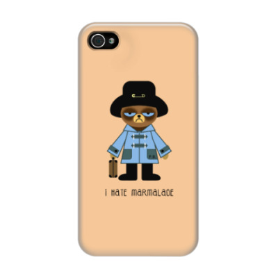 Чехол для iPhone 4/4s Grumpy Paddington