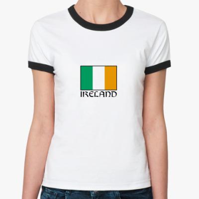 Женская футболка Ringer-T   Ireland