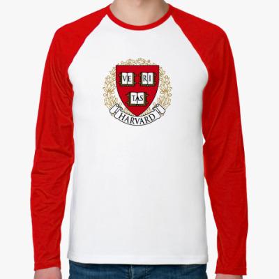 Футболка реглан с длинным рукавом Университет Гарварда
