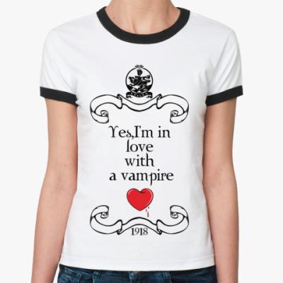 Женская футболка Ringer-T Vamplove
