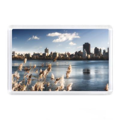 Магнит Нью-Йорк, озера, парк