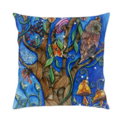 Подушка Сова в волшебном лесу