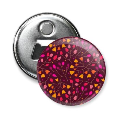 Магнит-открывашка Цветочный орнамент