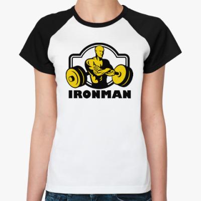 Женская футболка реглан Ironman