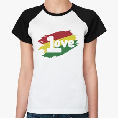 Женская футболка реглан 1 Love