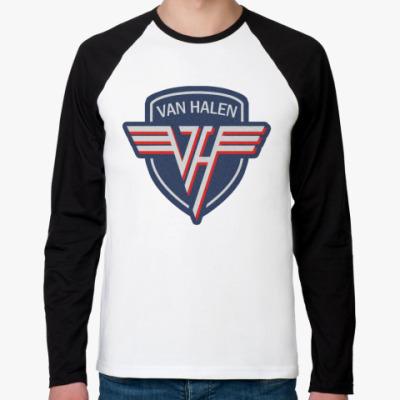 Футболка реглан с длинным рукавом Van Halen