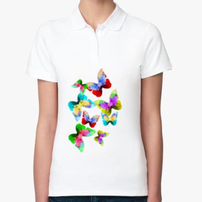 Женская рубашка поло Бабочки в животе