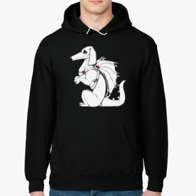 Толстовка худи Такса-дракон