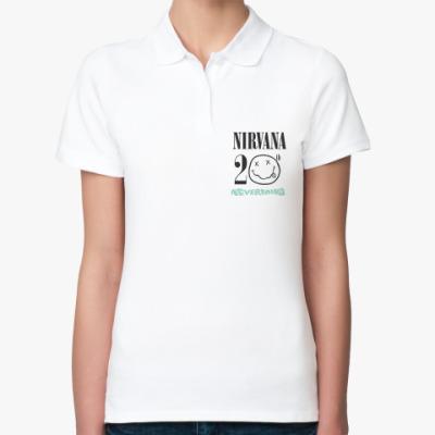 Женская рубашка поло Nirvana Nevermind 20th
