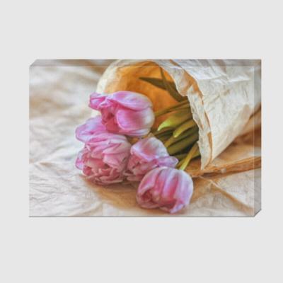 Холст тюльпаны в свёртке