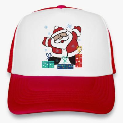 Кепка-тракер Дед Мороз с подарками