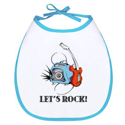 Слюнявчик Let's Rock!