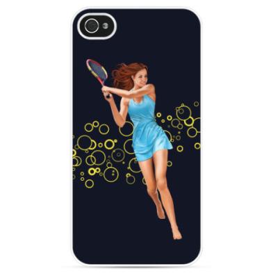 Чехол для iPhone Девушка с теннисной ракеткой