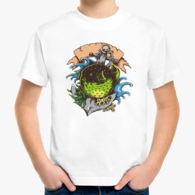 Детская футболка Море. Якорь. Рыба.