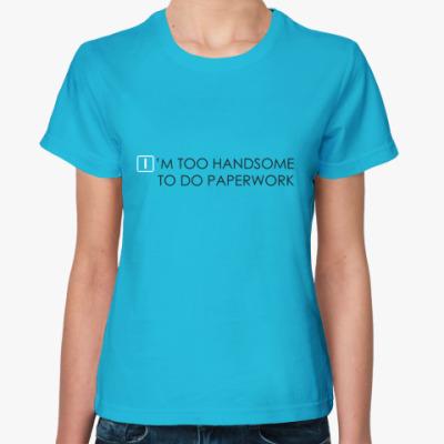 Женская футболка Бумажная работа