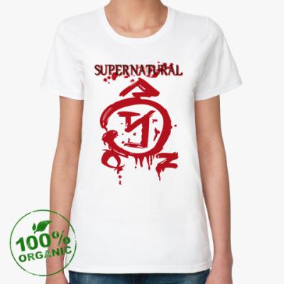 Женская футболка из органик-хлопка Supernatural