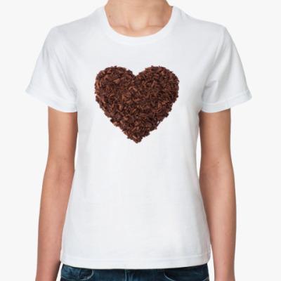 Классическая футболка Шоколадное Сердце