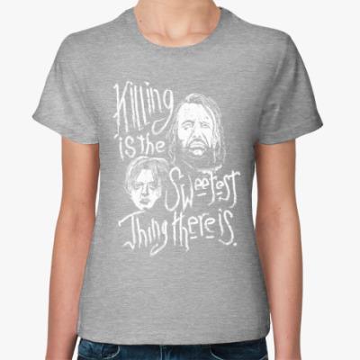 Женская футболка Игра престолов. Арья Старк