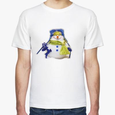 Футболка Добрый и пушистый снеговик