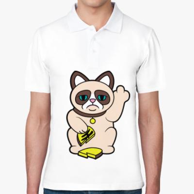 Рубашка поло Tard Grumpy Cat Maneki Neko