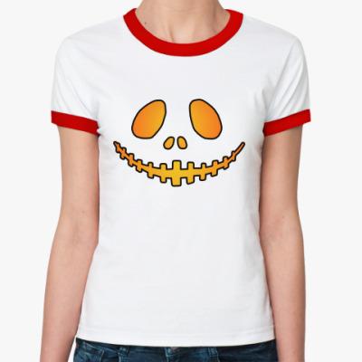 Женская футболка Ringer-T Helloween Smile R-T ж(б/к)