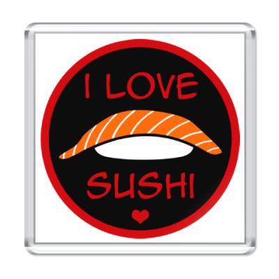 Магнит Я люблю суши