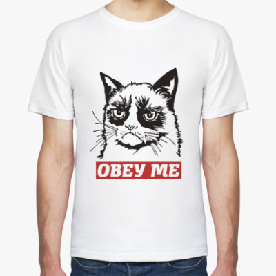 Футболка Obey the kitty.