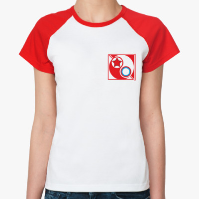 Женская футболка реглан  Красные vs Белые Ж