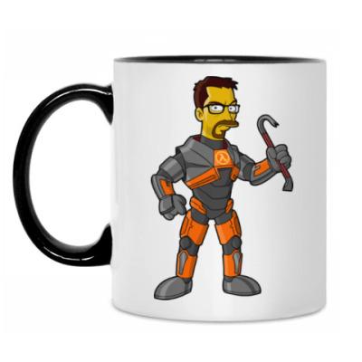 Кружка Half-Life (Симпсоны)