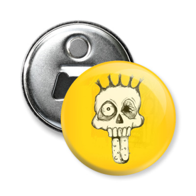 Магнит-открывашка -открывашка Scull Face