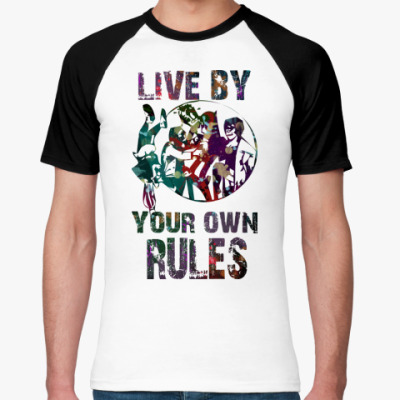 Футболка реглан live by your own rules