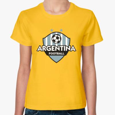 Женская футболка Футбол Аргентины