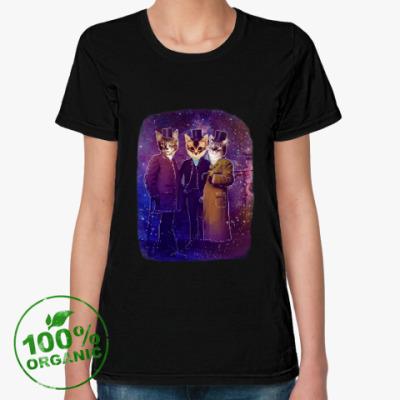 Женская футболка из органик-хлопка Космический триКотаж