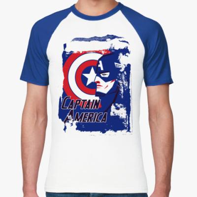Футболка реглан  Капитан Америка