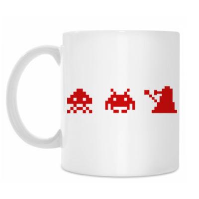 Кружка Dalek & Space Invaders