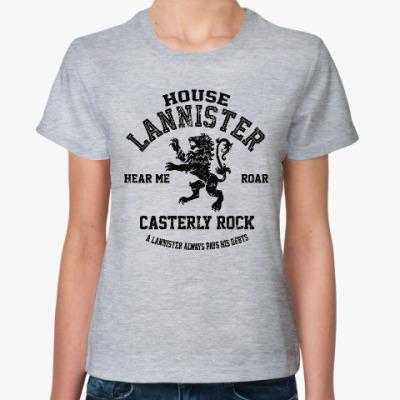 Женская футболка Игра престолов.Ланнистеры