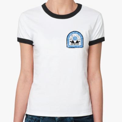 Женская футболка Ringer-T Чужой. Завет