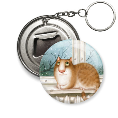 Брелок-открывашка  Кошка