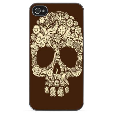 Чехол для iPhone 'Цветочный череп'