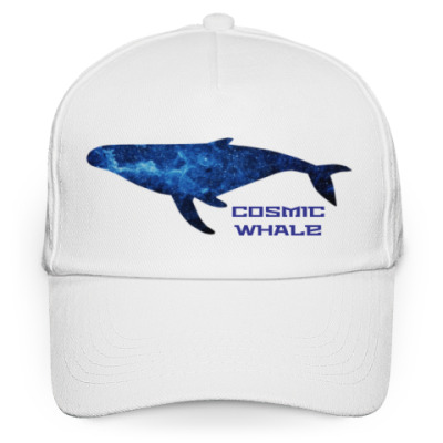 Кепка бейсболка Космический кит