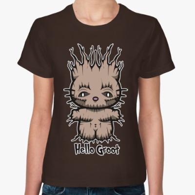 Женская футболка Привет Грут